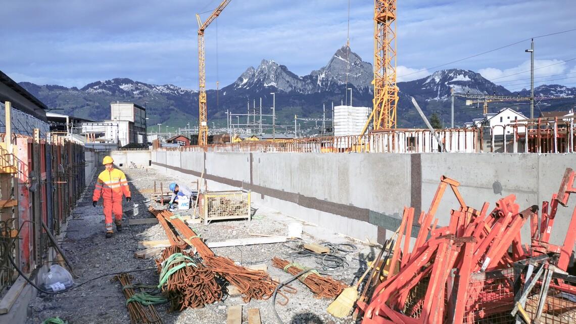 Arbeitsfugen Wand Hypalonband + Schutvlies Hertipark Brunnen